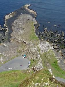 Giants Causeway aerial shot