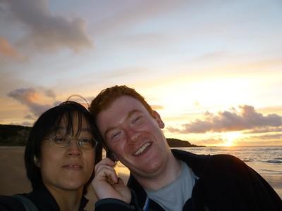 Sunset at Whitepark Bay
