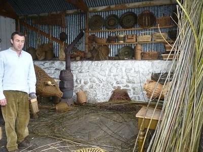 basket weaving at Ulster Folk Museum