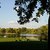 Marquette Park which features beautiful gardens, a golf course, and a lagoon.