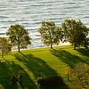 Lincoln Park and Lake Michigan lakefront in morning in the Fall.