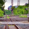 Train Track Downtown View