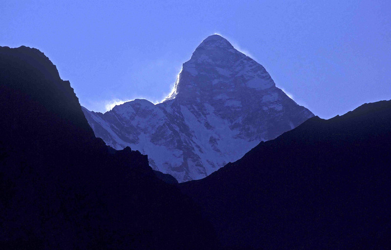 Nanda Devi at dawn from Saini Kharak