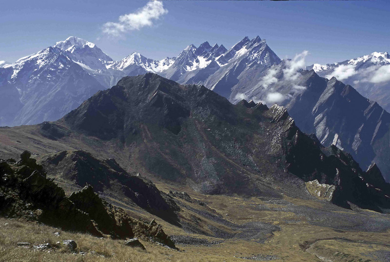 Peaks to east of Nanda Devi as seen from Dharansi Pass