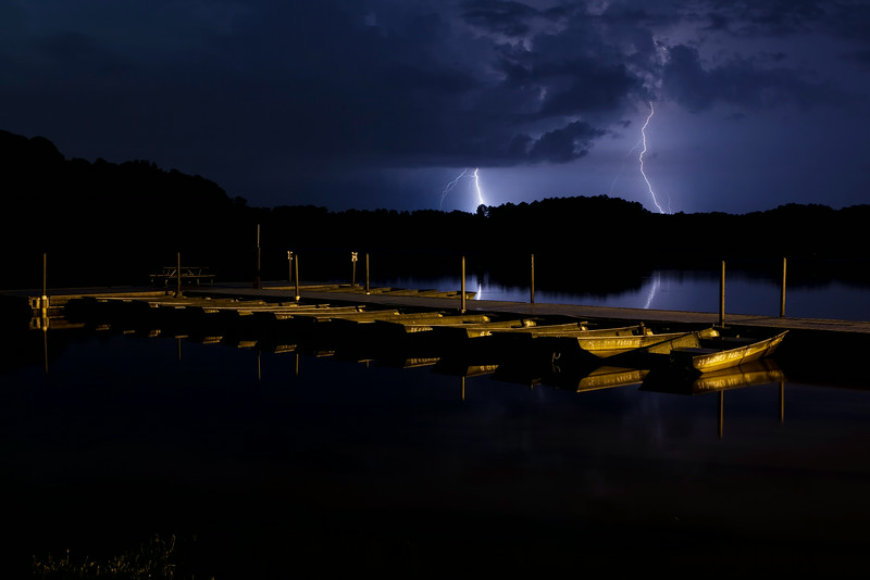 Lightning over the Boat Dock