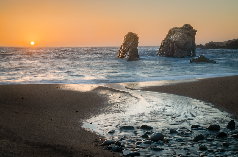 Garrapata Sea Stacks Sunset - Big Sur, CA