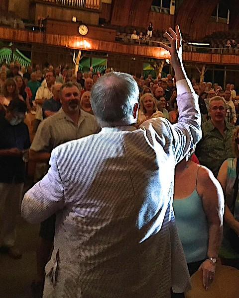 Garrison Keillor at Ocean Grove 2015  (Cell Phone Camera)
