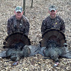 David Tuck(Left) 21lbs, 10 1/2 Inch Beard, 1 Inch Spurs, Steve Lindsay(Right) 18lbs, 10 1/4 Inch Beard, 1 Inch Spurs 3-31-2013