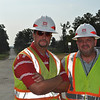 USACE Project Engineers Brian Hilton and Tom O'Buckley. Aug. 26, 2011.