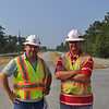 USACE Project Engineers Tom O'Buckley and Brian Hilton. Aug. 26, 2011.