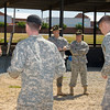 04 MAY 2011 (FORT BENNING, GEORGIA) - NCO/Soldier/DrillSgt of the Year Competition, Competitors demonstrate drill and ceremony skills at Eubanks Field, MCoE, Day 3.  Photo by John D. Helms - john.d.helms@us.army.mil