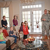05 DEC 2011 (Fort Benning, GA) - Elementary students who won first, second and third place in the Holiday Card contest gathered at Riverside to receive their rewards from commanding general MG Robert Brown. Photo by Kristian Ogden