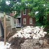 Reclaimed limestone from the foundation of a home that was demolished in North St. Louis
