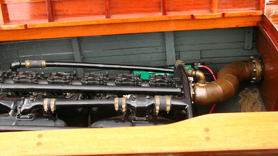 V-12 Liberty Engine in the 28' Garwood ÒLibertyÓ