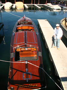Hal Orchard Stands Next To Heather @ Obexer Boat Company