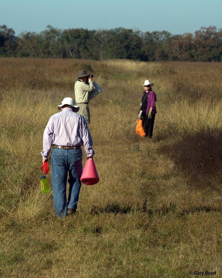 Rev Peter Conaty Collecting Tall-grass Prairie Seeds - Nash Prairie
