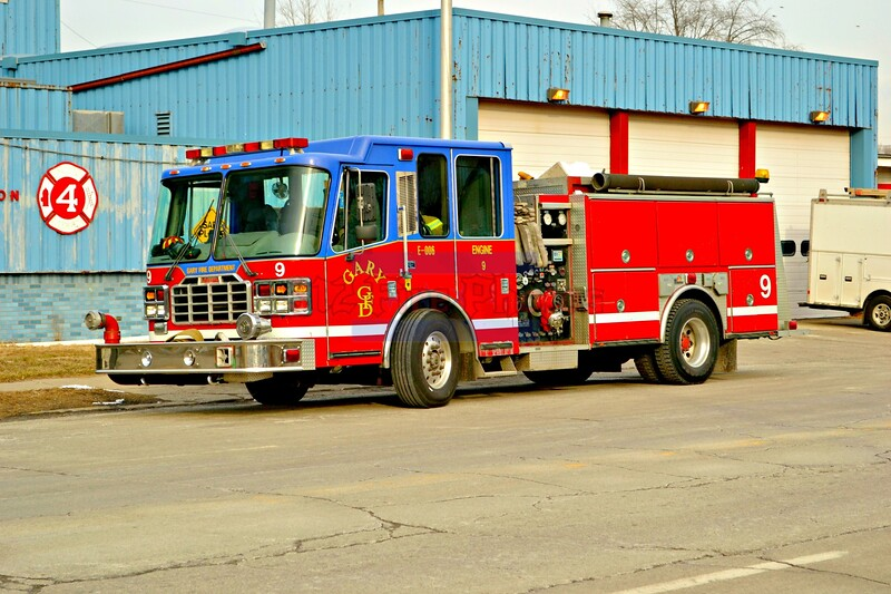 Gary(Ind) Fire Department apparatus and fires