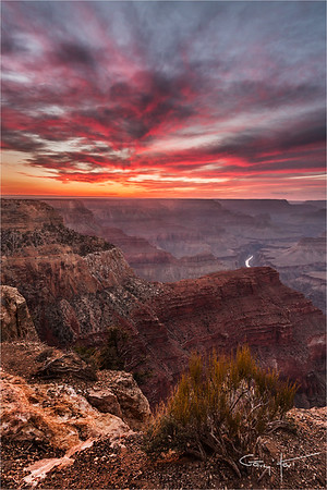 Sunset Fire, Hopi Point, Grand Canyon