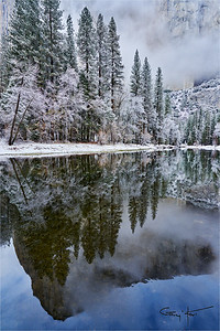 Winter Storm Reflection, El Capitan, Yosemite