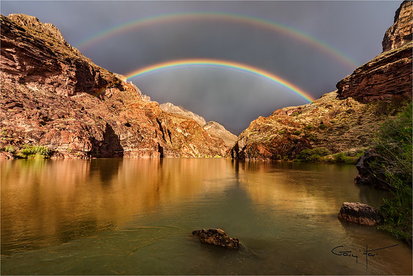 Double Rainbow, Colorado River, Grand Canyon