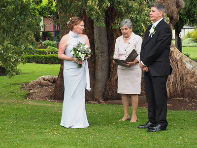 The Ceremony held under a massive tree