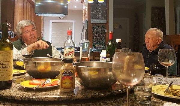 December 20, 2017. Gary and Barb host dinner and I brought Swedish aquavit.