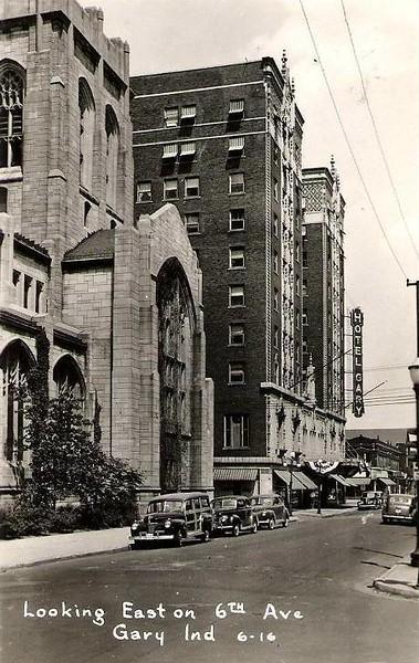 Hotel Gary & Methodist Church