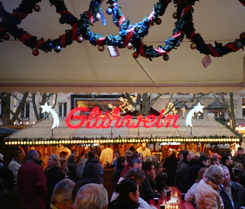 Luxembourg Xmas market - Gluhwien on tap, what more can you ask for?