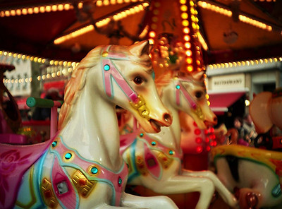 A kids carousel at the Xmas market in Luxembourg. Done with a Lomo LC-A.