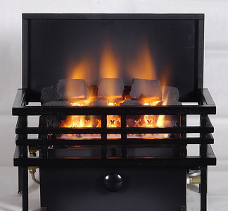 Chillbuster C9 CoalFire Vent-free heater with Americana Basket.