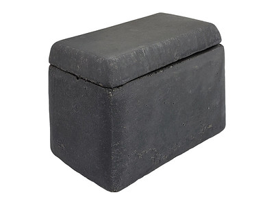 Item #RH3-DG DARK GRAY COLOR - Smooth-sided Ceramic House (for Shapes, Balls and Stones) to protect remote control receivers