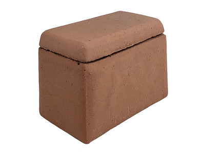 Item #RH3-RD ADOBE RED COLOR - Smooth-sided Ceramic House (for Shapes, Balls and Stones) to protect remote control receivers