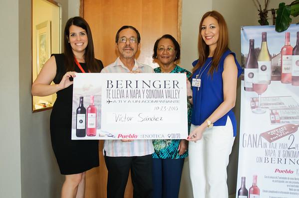 Entrega cheque simbolico de concurso Beringer
