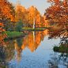 Гатчинский парк - Чесменский обелиск - осень