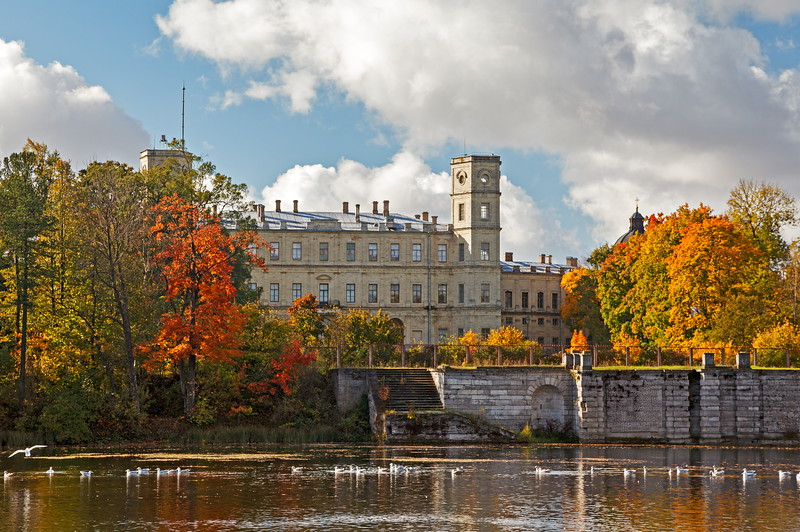 Gatchina Palace. View from the White Lake / Гатчинский дворец. Вид с Белого озера