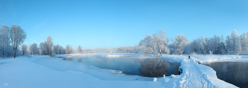 Gatchina Park. The Beginning of Tyoplaya River. Winter / Гатчинский парк. начало реки Теплая. Зима