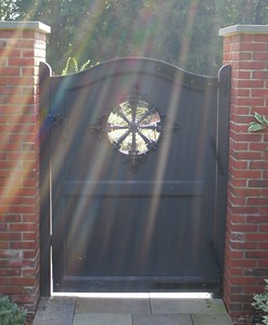 873 - NJ - Custom Board Gate  with Cutout & Metalwork