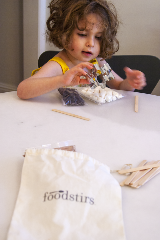 Gates Investigates the Contents of Her Foodstirs Kit