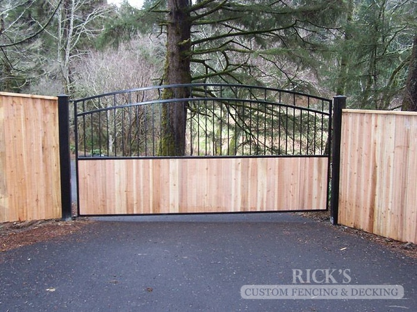 6208 - Ornamental Gate with Cedar Paneling