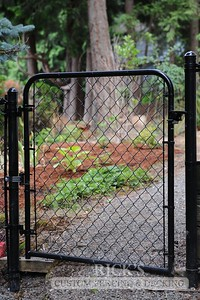 4122 - Black Chain Link Fencing