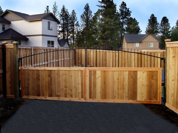 6204 - Ornamental Gate with Cedar Paneling