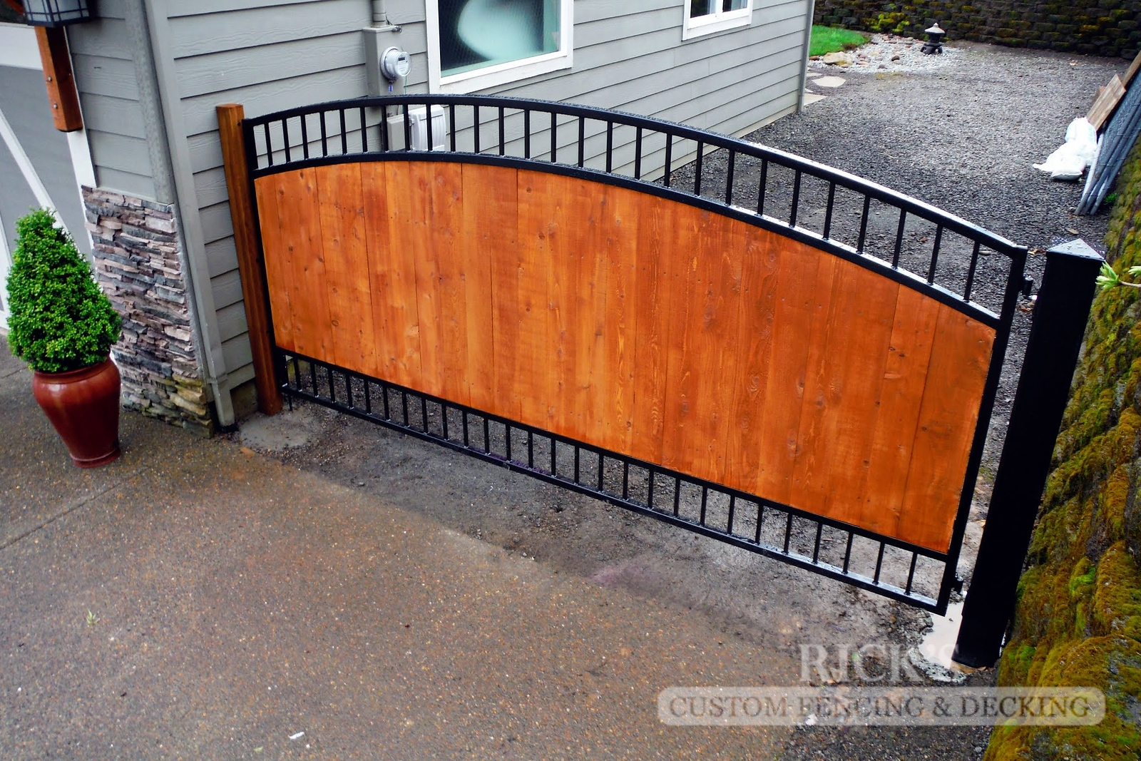 6231 - Ornamental Gate with Cedar Paneling