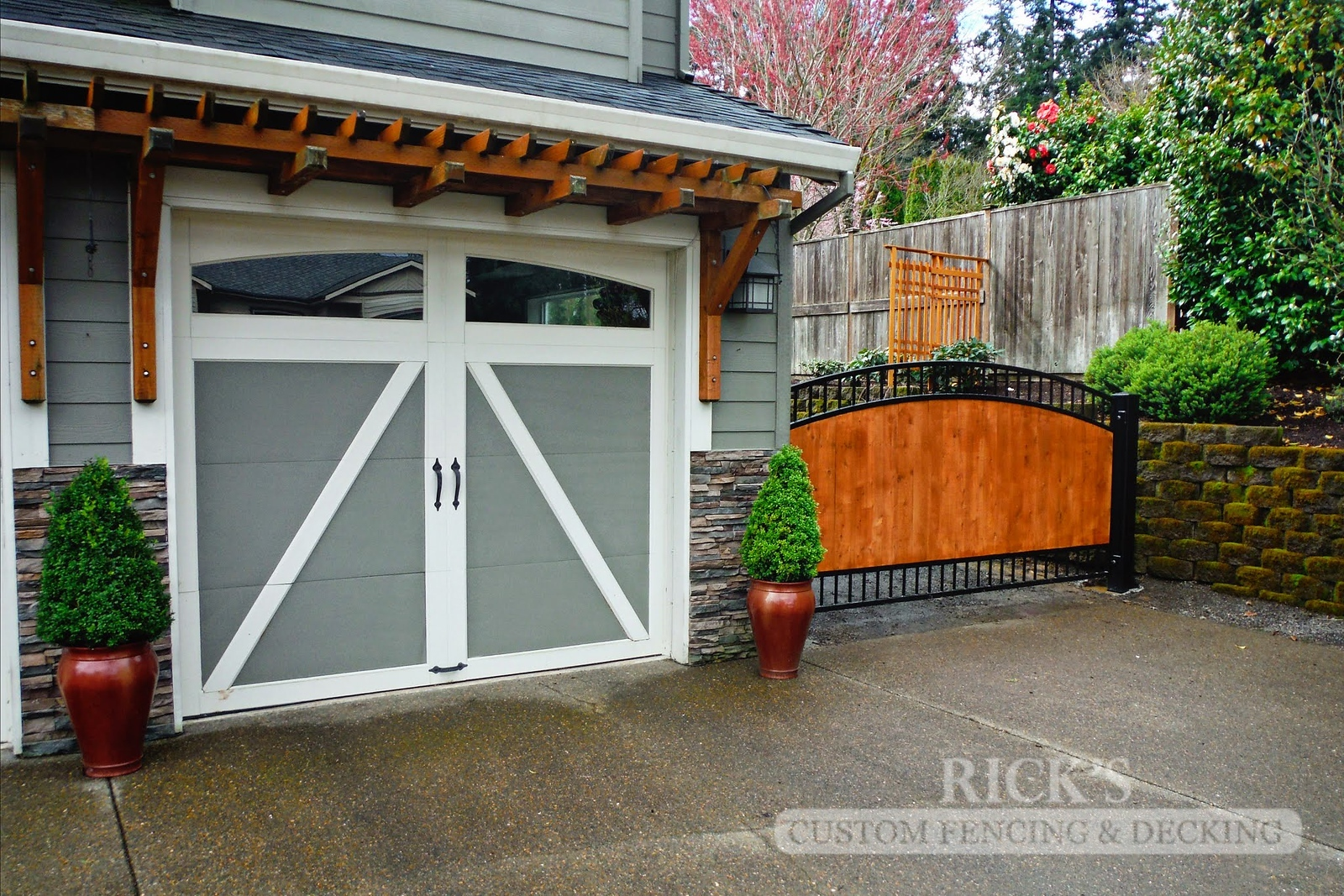 6234 - Ornamental Gate with Cedar Paneling