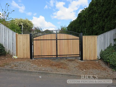Ornamental Gate with Cedar Paneling