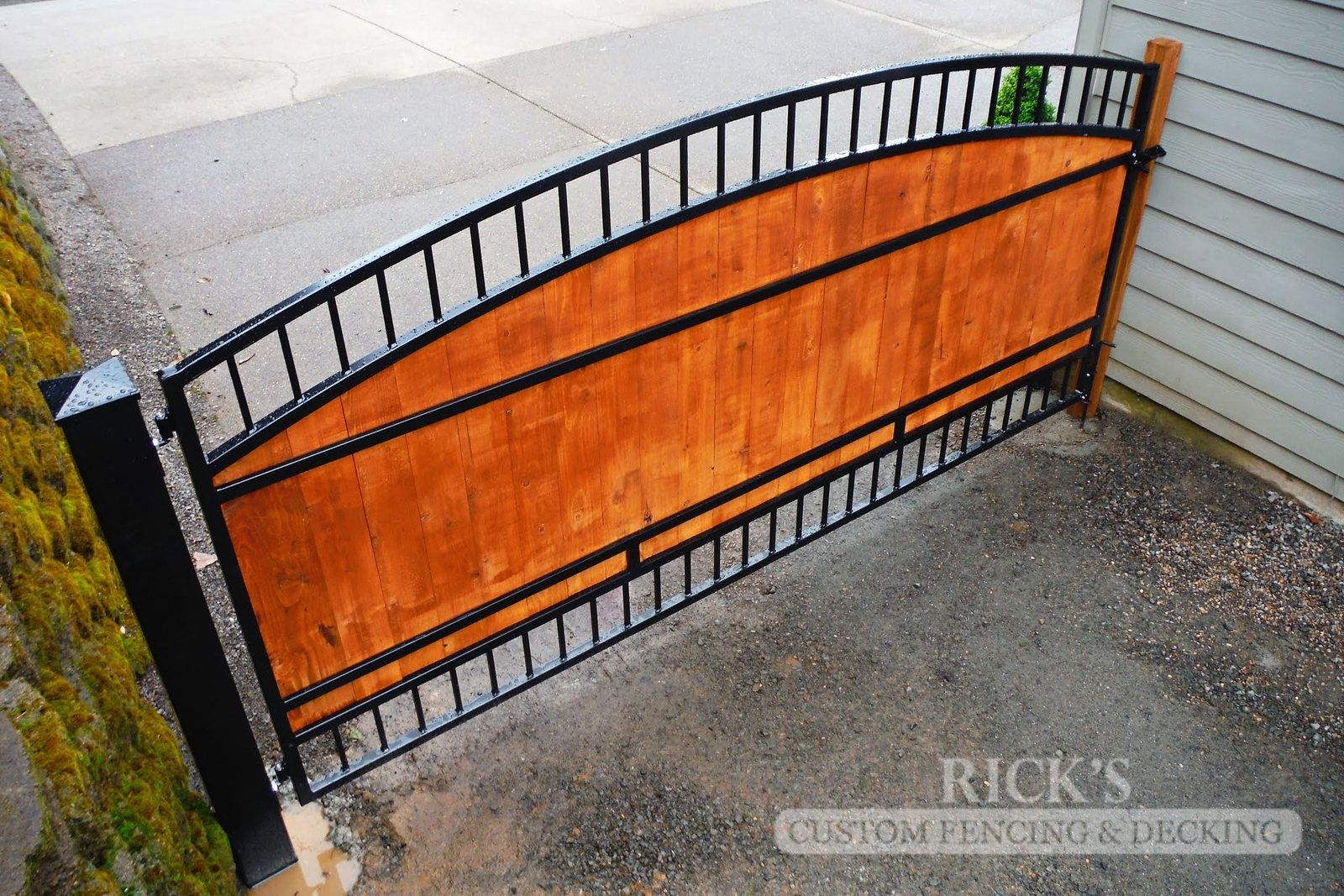6232 - Ornamental Gate with Cedar Paneling