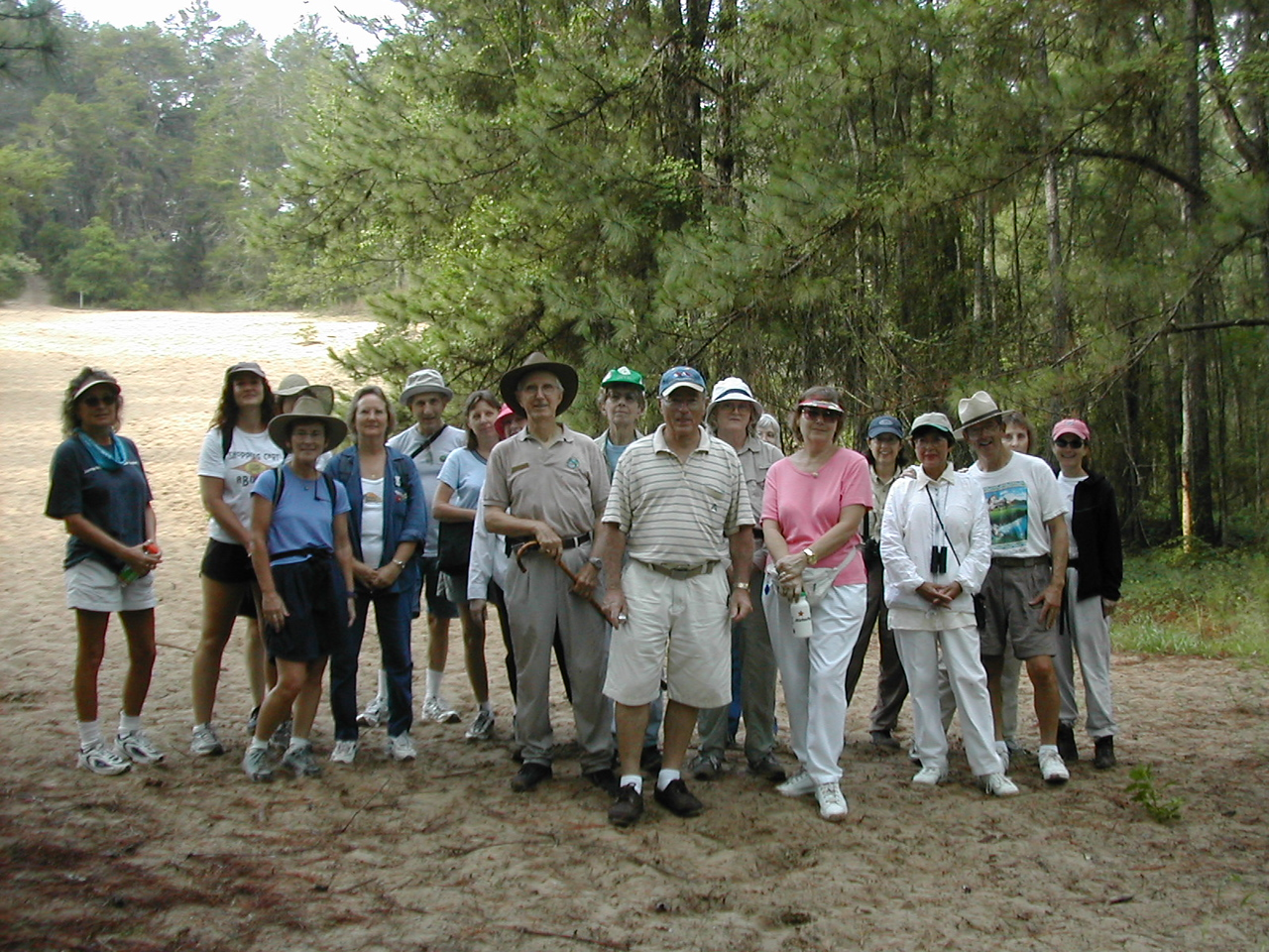 Hiking out to the Cross Florida Barge Canal diggings with Kenneth Smith<br /> PHOTO CREDIT: Florida Trail Association / Sandra Friend