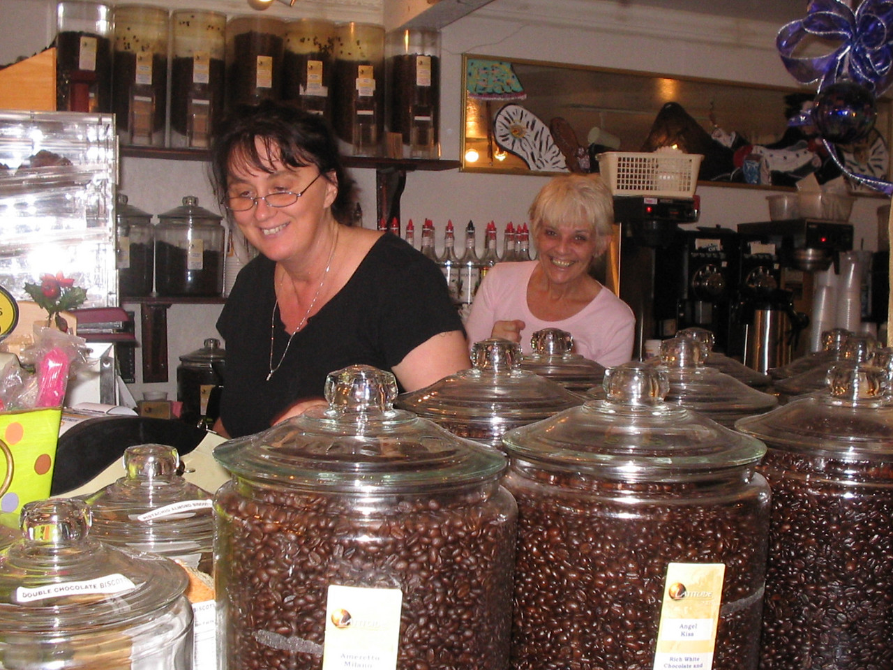 Behind the counter at B.D. Beans Cafe<br /> PHOTO CREDIT: Florida Trail Association / Judy Trotta
