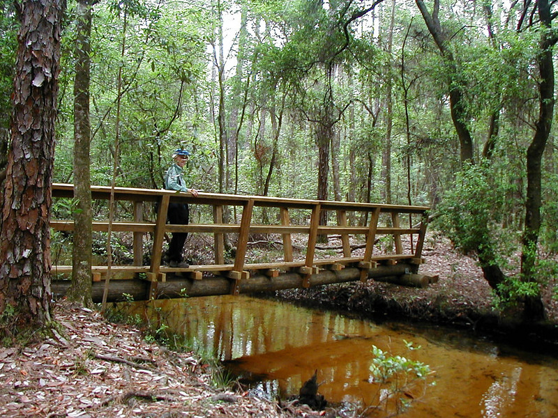 Florida Trail bridge crossing, Eglin AFB<br /> PHOTO CREDIT: Deb Blick / Florida Trail Association