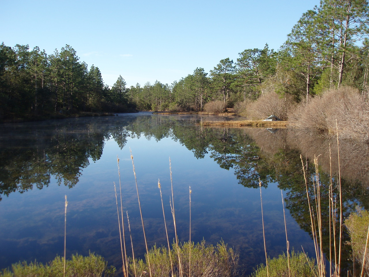 Camping at JR Walton Pond, Eglin AFB<br /> PHOTO CREDIT: Robert Coveney / Florida Trail Association