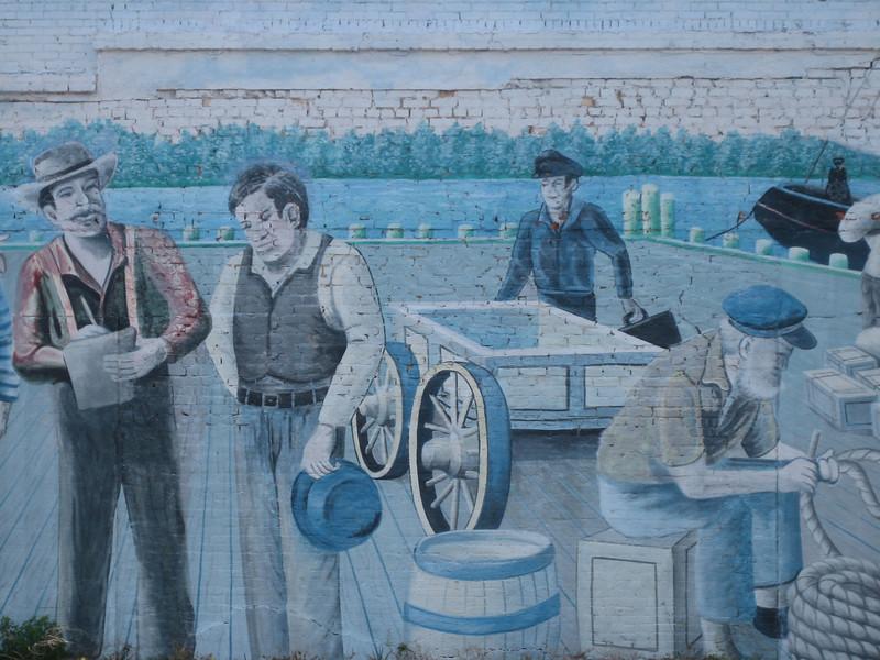 Detail of mural in Milton
